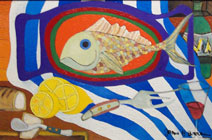 Fish For Dinner - Abstract Still Life Painting